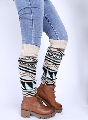 Bohemia Knitted Over Knee Long Leg Warmers - Voguetide