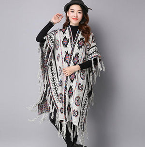 Winter Bohemian V Neck Knitted Long Cardigans Sweaters