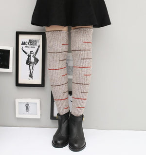 Winter Warm Cashmere Thickened High Boots Leg Warmers 3 Pair