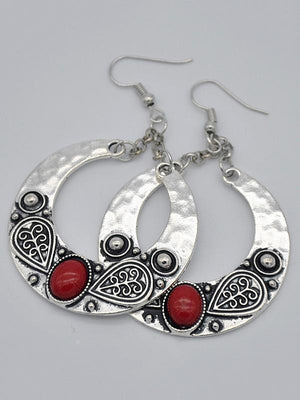 Vintage Bohemia Exaggerated Carving Earrings