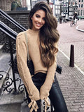 Round Neck Long Sleeve Loose Autumn Sweater