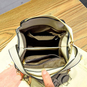 Stylish PU Leather Small Square Shoulder Bag Multi-pockets Crossbody Bag For Women