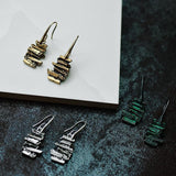 Vintage old creative unique metal earrings