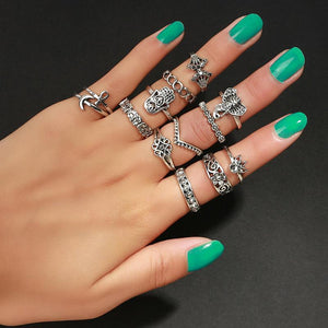 Boho Vintage 13pcs Rings Set Jewelry