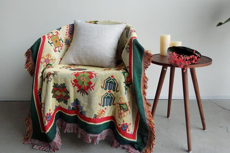 Bohemian Cotton Multi-functional Sofa Blanket Tapestry - Voguetide