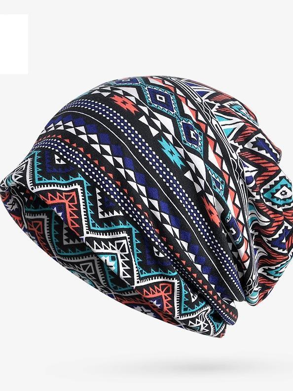 Four Seasons Cotton Fashion Geometric Pattern Adult Fashion Bib Hat - Voguetide