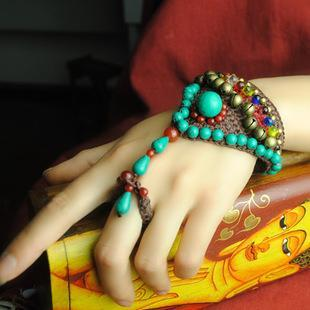 National Style Retro Fashion Jewelry Original Handmade Wax Line Woven Bracelet