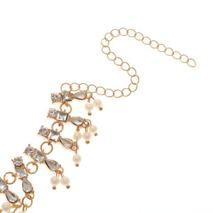 Summer wild beach sandals Multi-layered pearl diamond pendant Foot Anklet