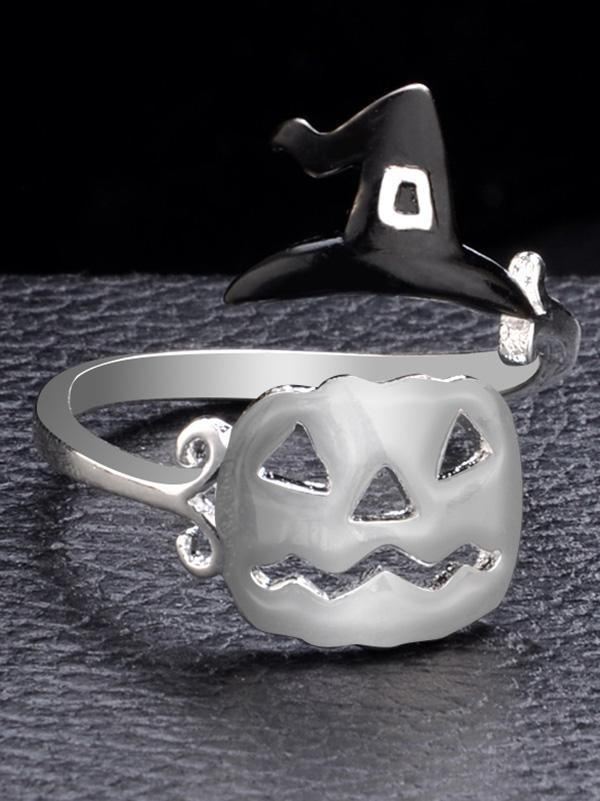Halloween Witch's Hat&Broomstick Hollow Rings - Voguetide