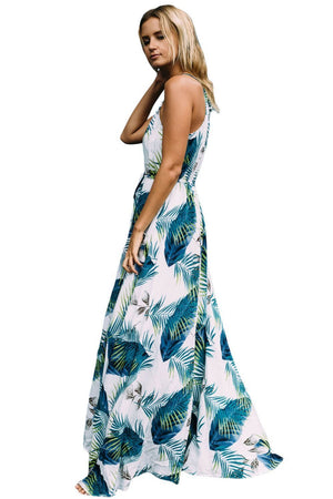 Spaghetti Stripe Printed Beach Bohemia Maxi Dress