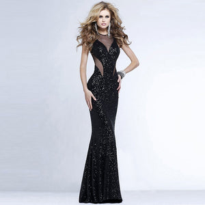 Sexy women wrapped chest mesh gauze splint flash dress evening dress halter dress