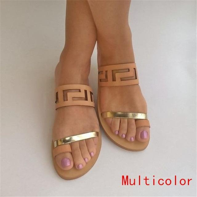 Women Large Size Beach Open Toe Flat Sandals