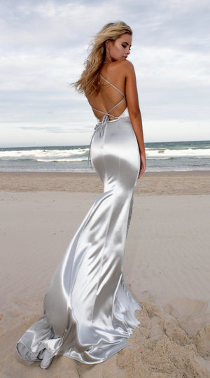 Sleeveless Backless Bodycon Evening Party Maxi Long Dress