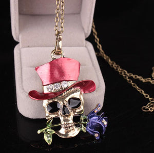 Halloween Taro Rose Necklace Accessories - Voguetide