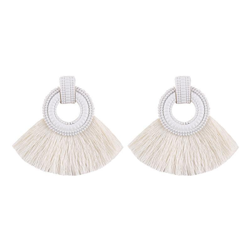 Fashion Alloy Paint Tassel Earrings
