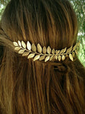 Vintage Hair Accessories Clips Blonde Leaves Comb Headwear