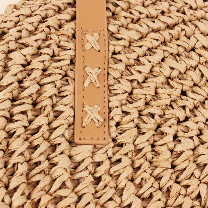Summer Beach Round Straw Shoulder Bag