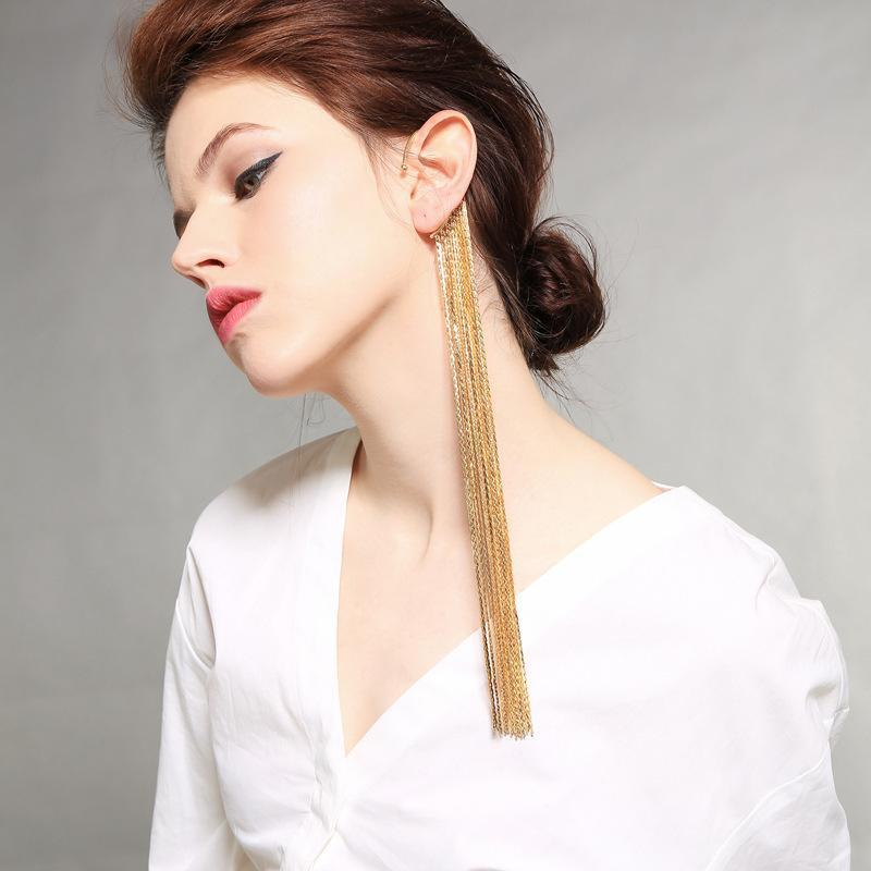 Tassel Earrings Exaggerated Personality Long Ear Hook
