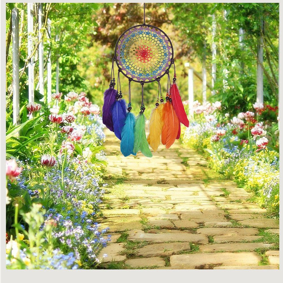 Boho Dream Catchers Handmade Colorful Feathers Wall Decoration - Voguetide