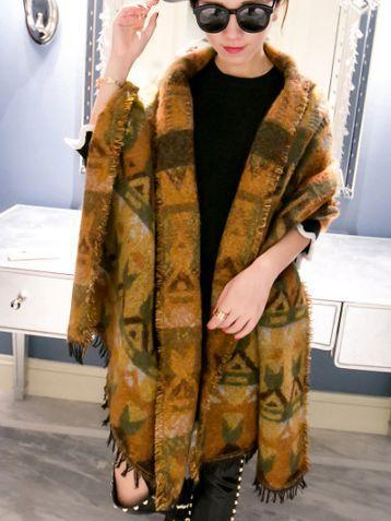 Autumn And Winter Warm Artificial Cashmere Thick Scarf Shawl - Voguetide