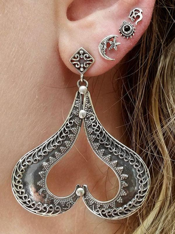 4PCS Multi Shape Alloy Earring Accessories - Voguetide