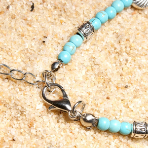 Double-layer Conch Starfish Beach Weaving Anklet Bracelet - Voguetide