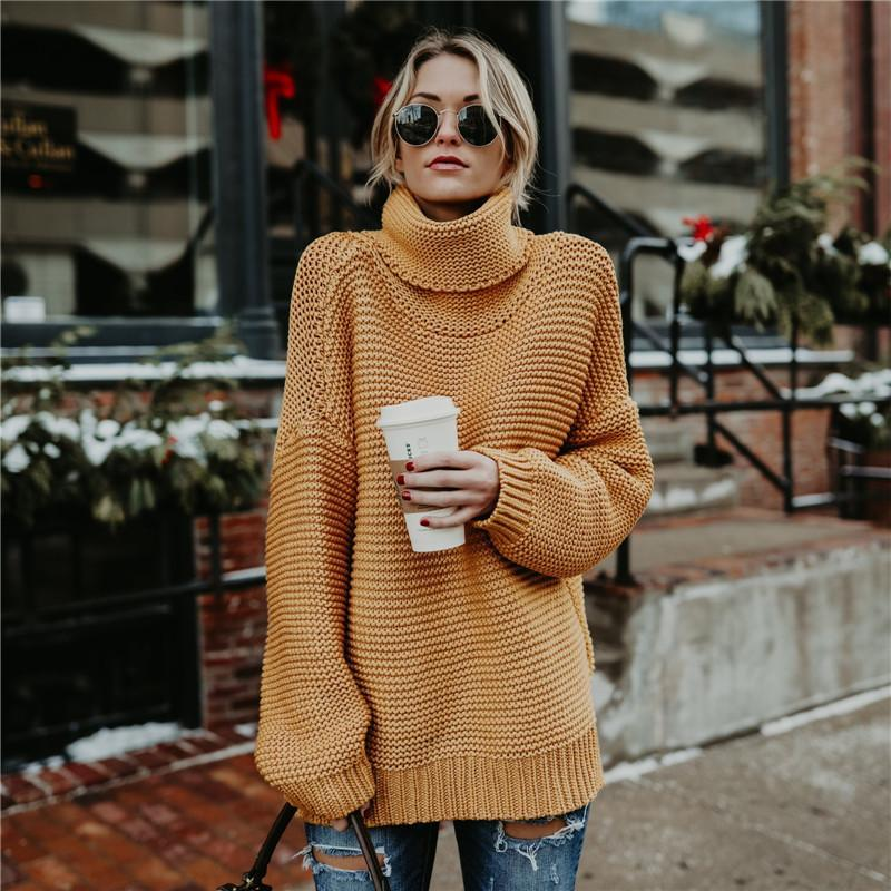 Solid Color Casual Long Sleeve Pullover Sweater