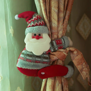 Santa Claus Elk Snowman Doll Curtain Buckle Christmas Decoration
