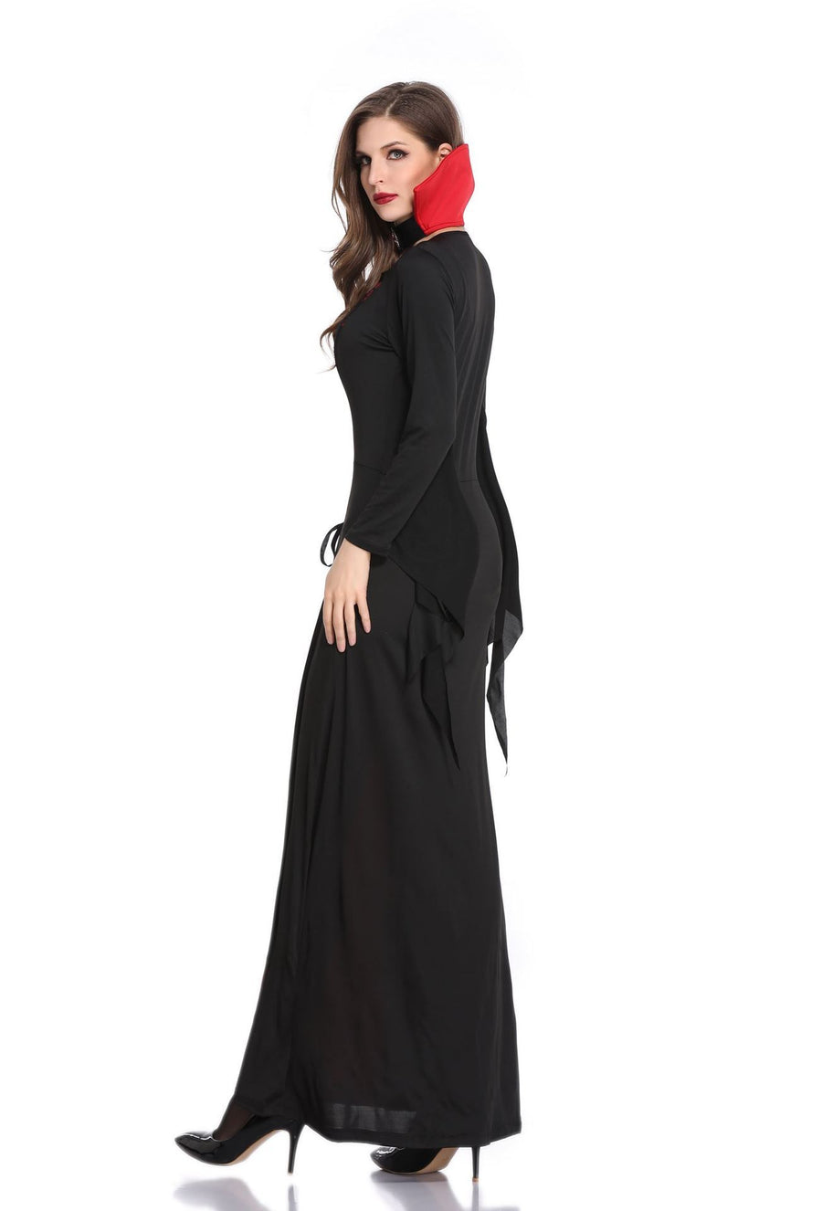 Halloween Black Easter Adult Female Vampire Devil Costumes Queen Dresses