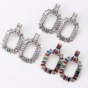Fashion Pop Diamond Crystal Earrings