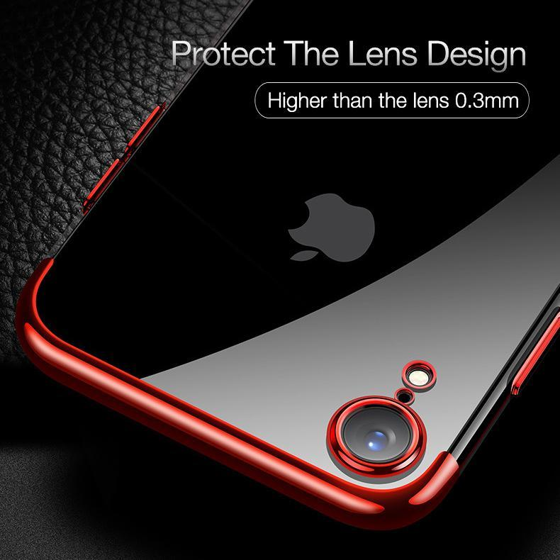 TPU ultra thin transparent case for iPhone Xs Xs Max XR X 8 8p 7 7p