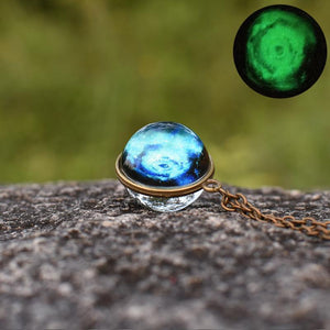 Science Fiction Universe Starry Sky Light Shining Hand Pendant