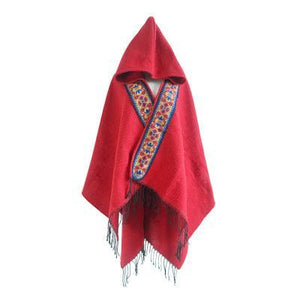 Folk Style Hooded Thick Warm Tibet Travel Scarf Shawl Cloak - Voguetide