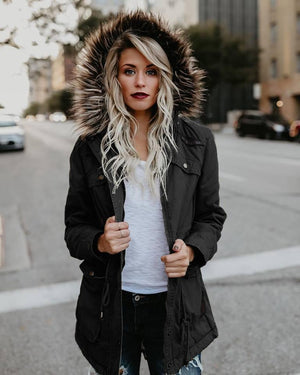 Winter Long Sleeve Hoodie Outwear Coat