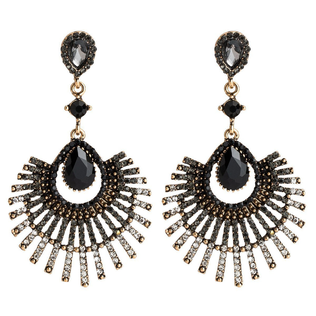 Fashion Simple Water Droplets Diamond Acrylic Ethnic Earrings Jewelry