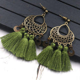 8 Colors Vintage Tassels Earrings Accessories