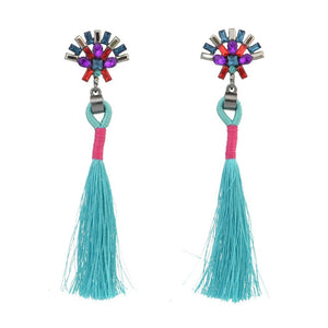 Fashion best tassel long earrings 5 colors 1 pair for jewelry accessories bohemia style Xmas party - Voguetide