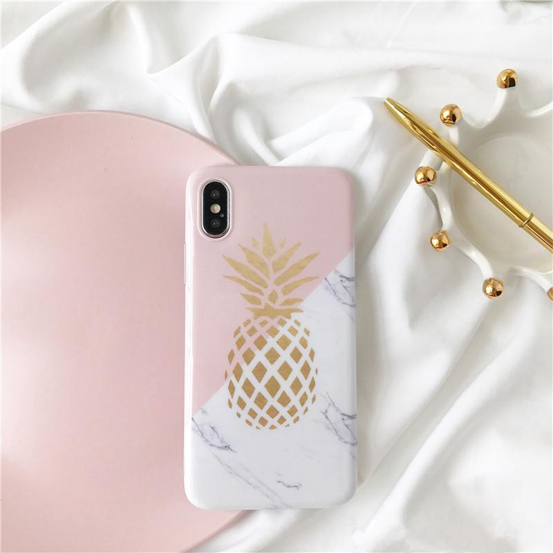 Pineapple marble TPU Phone cases For iPhoneX