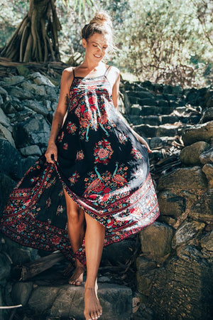 Summer Boho Sexy Retro Print Vintage Beach Dress