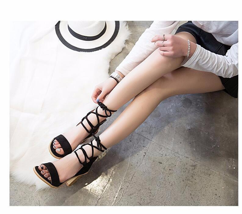 Pumps Open Toe Lace up Heels Sandal Shoes