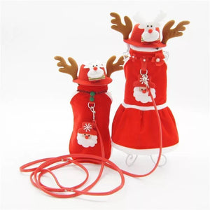 Warm Winter Xmas Pet Dog Clothes Coat Jacket Santa Christmas Clothing for Small Medium Dog Cat Pet Supplies S-XL