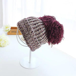 Split-Joint Colorful Knitting Hat Accessories