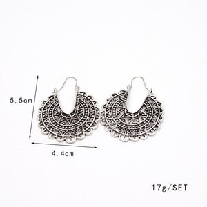 5 patterns Bohemia Wild Vintage pierced earrings - Voguetide