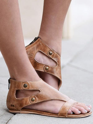 Simple Rivet Flat Sandals Shoes