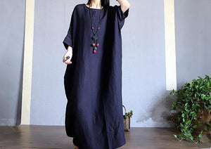 Solid Color Loose Casual Maxi Dress
