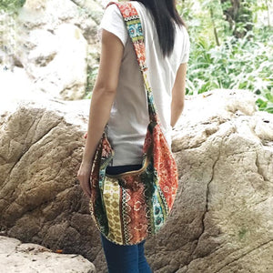 Hippie Floral Print Boho Shoulder Bag - Voguetide