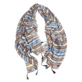 Vintage Bohemia Tassel Beach Sun Protection Shawls Air Conditioning Scarfs