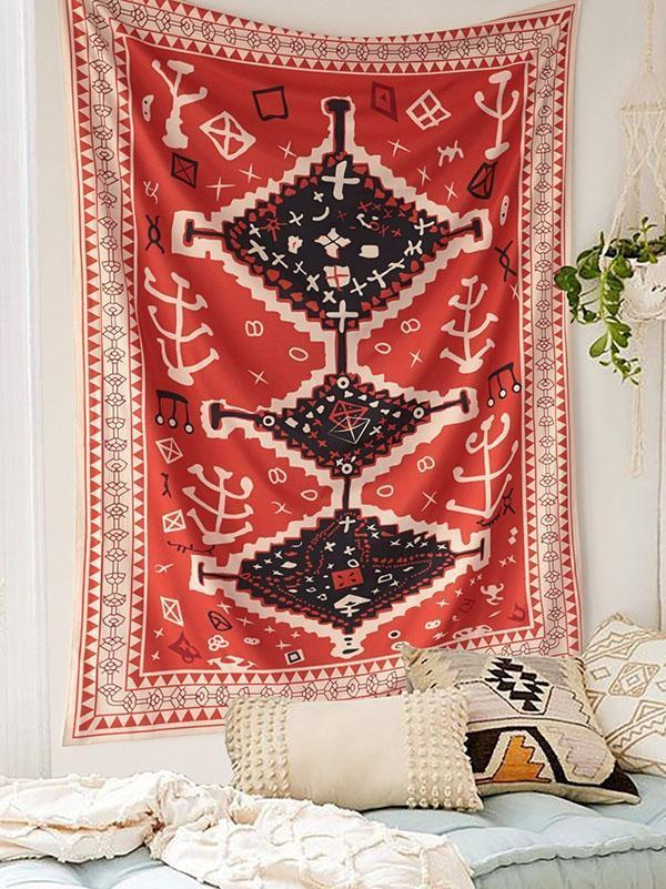 Bohemia Multifunctional Floral Printed Tapestry Decoration - Voguetide