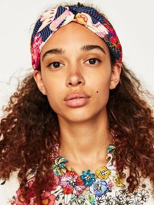 Boho Striped Flower Print Headband Headwear - Voguetide