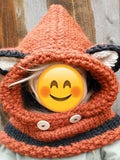 Knitted Fox Featured Warmer Hat
